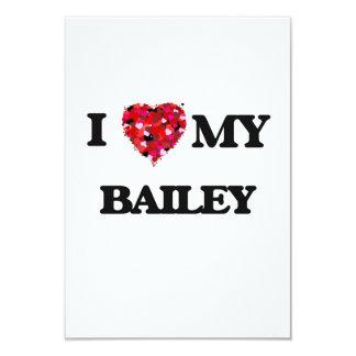 I Love MY Bailey 3.5x5 Paper Invitation Card