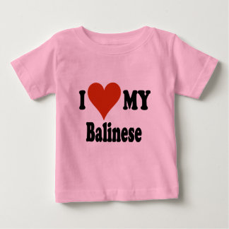 I Love My Balinese Cat Gifts and Apparel Baby T-Shirt