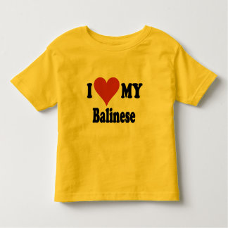 I Love My Balinese Cat Gifts and Apparel Toddler T-shirt