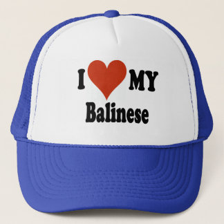 I Love My Balinese Cat Gifts and Apparel Trucker Hat