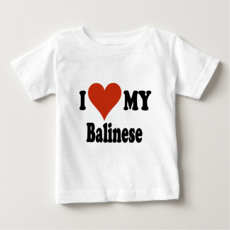 I Love My Balinese Cat Merchandise Baby T-Shirt