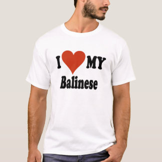 I Love My Balinese Cat T-Shirts for Everyone