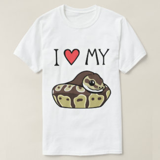 I Love My Ball Python Cute Funny Men's T-Shirt
