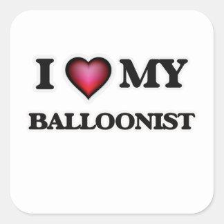 I love my Balloonist Square Sticker