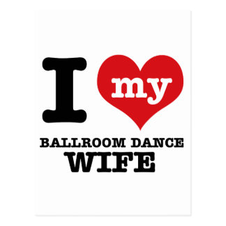 I love my Ballroom Boyfriend Postcard