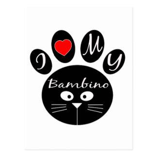 i love my Bambino. Postcard