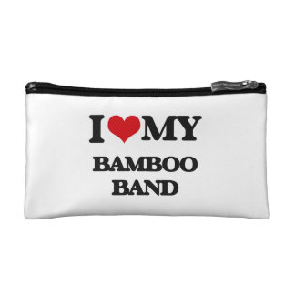 I Love My BAMBOO BAND Cosmetic Bag