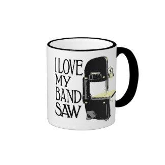 I Love My Bandsaw Ringer Coffee Mug