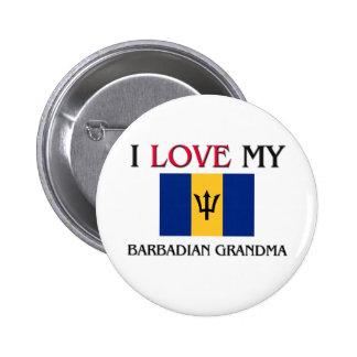 I Love My Barbadian Grandma Button