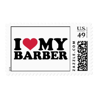 I love my barber postage