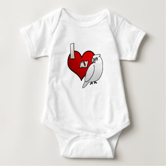 I Love my Bare Eyed Cockatoo Baby Bodysuit