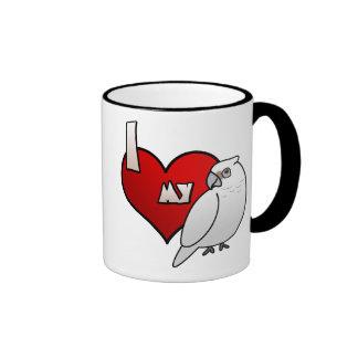 I Love my Bare Eyed Cockatoo Ringer Mug