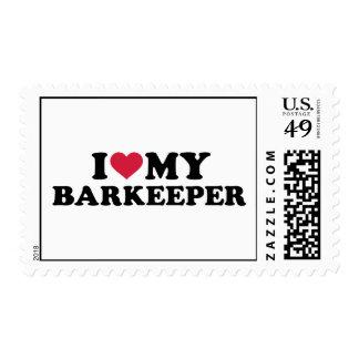 I love my Barkeeper Postage Stamps