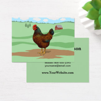 I Love My Barnevelder Chickens Business Card