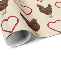 I Love My Barnevelder Chickens Wrapping Paper