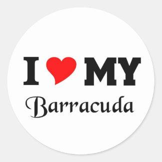 I love my Barracuda Round Stickers