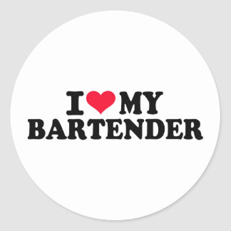 I love my Bartender Classic Round Sticker