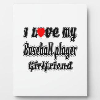 I Love My Baseball player Girlfriend Photo Plaque