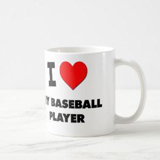 I love My Baseball Player Classic White Coffee Mug