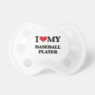 I love my Baseball Player Baby Pacifier