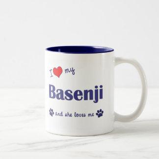 I Love My Basenji (Female Dog) Two-Tone Coffee Mug