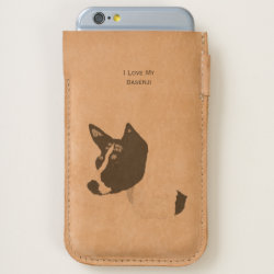 iPhone 7 and iPhone 6/6s Case with Basenji Phone Cases design