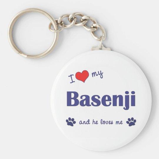 I Love My Basenji (Male Dog) Keychain