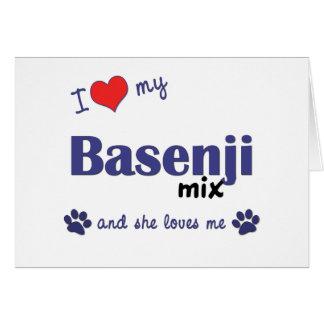 I Love My Basenji Mix (Female Dog) Card