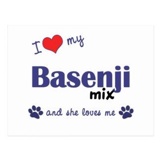 I Love My Basenji Mix (Female Dog) Postcard