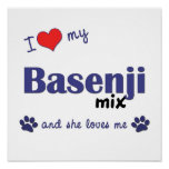 I Love My Basenji Mix (Female Dog) Poster Print