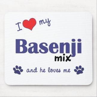 I Love My Basenji Mix (Male Dog) Mouse Pad