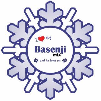 I Love My Basenji Mix (Male Dog) Statuette
