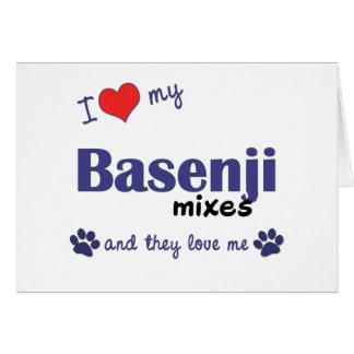 I Love My Basenji Mixes (Multiple Dogs) Card