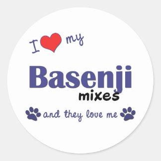 I Love My Basenji Mixes (Multiple Dogs) Classic Round Sticker