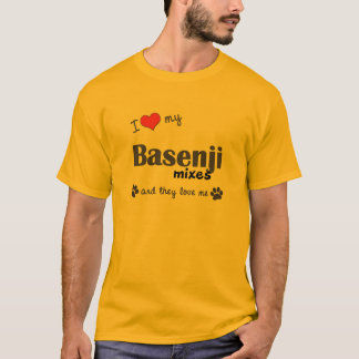 I Love My Basenji Mixes (Multiple Dogs) T-Shirt