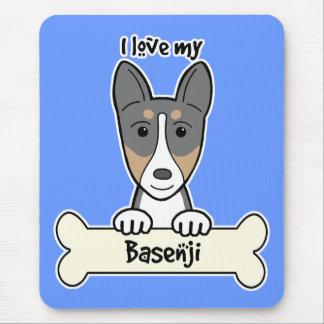I Love My Basenji Mouse Pad