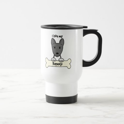 I Love My Basenji Mugs