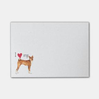 I Love my Basenji Post-it Notes