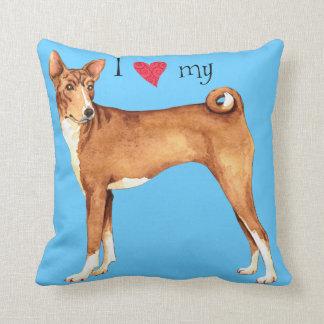 I Love my Basenji Throw Pillow