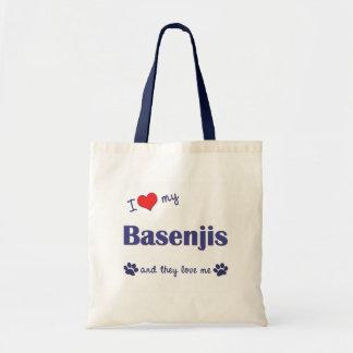 I Love My Basenjis (Multiple Dogs) Bags