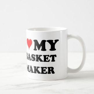 I Love My Basket Maker Classic White Coffee Mug
