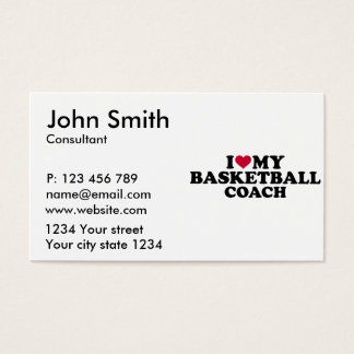 I love my basketball coach business card
