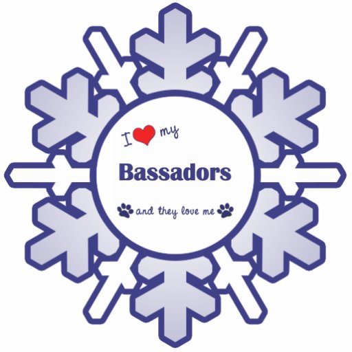 I Love My Bassadors (Multiple Dogs) Cut Outs