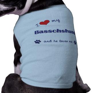 I Love My Basschshund (Male Dog) Pet Shirt