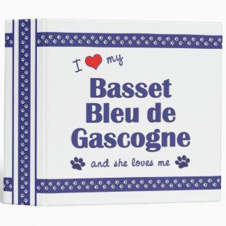 I Love My Basset Bleu de Gascogne (Female Dog) Binders