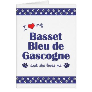 I Love My Basset Bleu de Gascogne (Female Dog) Card
