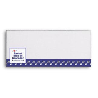 I Love My Basset Bleu de Gascogne (Female Dog) Envelopes