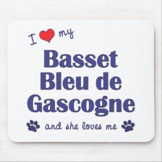 I Love My Basset Bleu de Gascogne (Female Dog) Mouse Pad