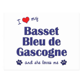 I Love My Basset Bleu de Gascogne (Female Dog) Postcard