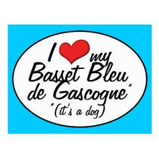 I Love My Basset Bleu de Gascogne (It's a Dog) Post Cards